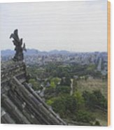 Himeji City From Shogun's Castle Wood Print