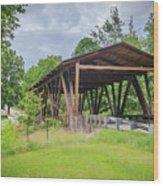 Hindman Memorial Covered Bridge Wood Print