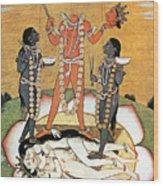 Hindu Goddess: Kali Wood Print