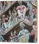 Hindu Temple Little India Singapore Wood Print