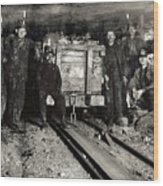 Hine: Coal Miners, 1911 Wood Print