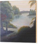 Hint Of A Lake Wood Print