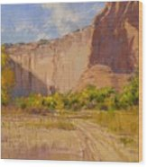 Hint Of Autumn Canyon De Chelly Wood Print
