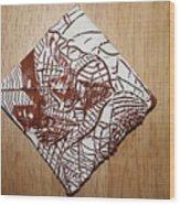 Hints Of Life - Tile Wood Print