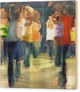 Hip Hop Dance Night Wood Print