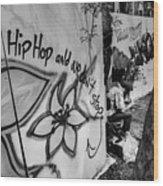 Hip Hop We Don't Stop Wood Print