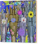 Hippie Hippie Straws Wood Print