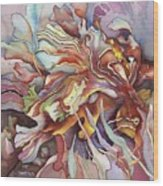 Hippocampe Rouge Wood Print