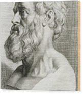 Hippocrates, Greek Physician Wood Print