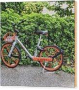 Hire Bike Wood Print