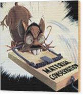 Hirohito As A Rat Wood Print