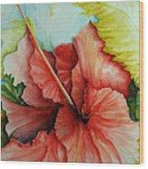 Hiroko's Hibiscus 2 Wood Print