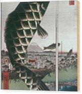 Hiroshige: Kites, 1857 Wood Print