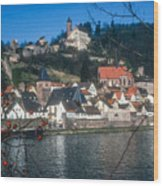 Hirschhorn Village On The Neckar Wood Print