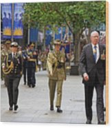 His Excellency General The Honourable David Hurley Wood Print
