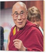 His Holiness The 14th Dalai Lama Photo By Christopher Michel 2012 Wood Print