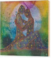 His Loves Embrace Divine Love Series No. 1007 Wood Print