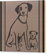 His Masters Voice - Nipper And Chipper Wood Print