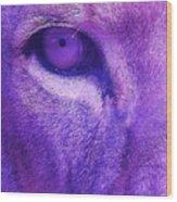 His Royal Eyeness Wood Print