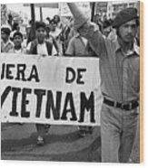 Hispanic Anti-viet Nam War March 2 Tucson Arizona 1971 Wood Print