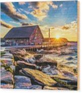 Historic Anderson Dock In Ephraim Door County Wood Print