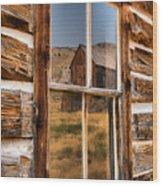 Historic Bannack Mining Reflections Wood Print