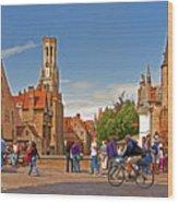 Historic Bruges Wood Print