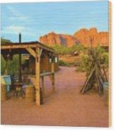 Historic Camp Four Post Wood Print