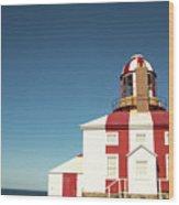 Historic Cape Bonavista Lighthouse, Newfoundland, Canada Wood Print