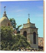 Historic Carmel Mission Wood Print