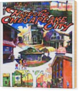 Historic Chesapeake City Poster Wood Print