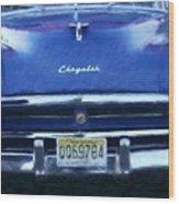 Historic Chrysler Front End Wood Print