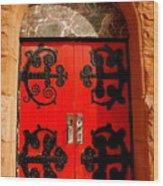 Historic Church Doors Wood Print