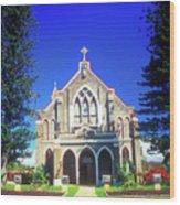 Historic Church Maui Wood Print
