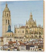 Historic City Of Segovia Wood Print