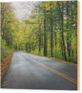 Historic Columbia River Highway In Fall Wood Print
