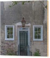 Historic Downtown Charleston Entrance  Wood Print