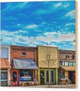 Historic Downtown Emmett 01 Wood Print
