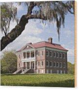 Historic Drayton Hall In Charleston South Carolina Wood Print