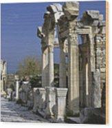 Historic Ephesus Wood Print