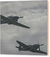 Historic Fighter Planes Wood Print