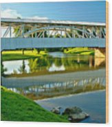 Historic Halls Mill Bridge Reflections Wood Print