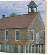 Historic Hinerville Schoolhouse  Wood Print