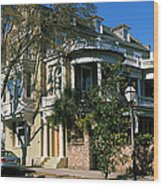 Historic Houses In A City, Charleston Wood Print