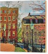 Historic Intersection Wood Print