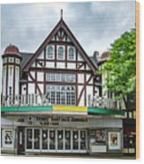 Historic Keswick Theater In Glenside Pa Wood Print