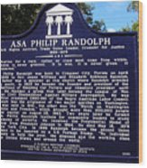 Historic Landmark Church Sign Wood Print