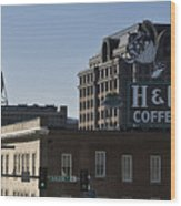 Historic Landmark Signs Roanoke Virginia Wood Print