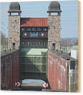 Historic Lift Lock Wood Print