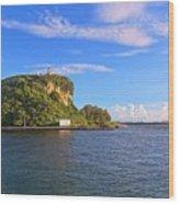 Historic Lighthouse On Chijin Island Wood Print
